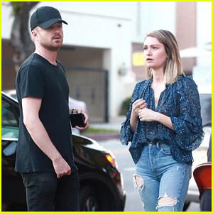 Aaron Paul & Wife Lauren Have a Dinner Date in Los Feliz