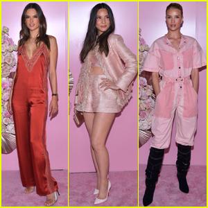 Alessandra Ambrosio, Olivia Munn, & Rosie Huntington-Whiteley Go Glam for Patrick Ta Beauty Event