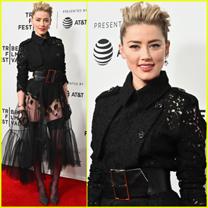 Amber Heard Rocks Edgy, Lace Look for 'Gully' Premiere at Tribeca Film Festival