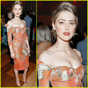 Amber Heard Goes Pretty in Florals for Vital Voices Global Leadership Awards