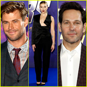 Chris Hemsworth, Scarlett Johansson, & Paul Rudd Bring 'Endgame' to London!