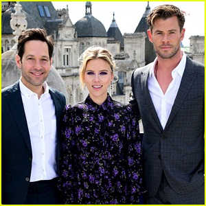 Paul Rudd, Scarlett Johansson, & Chris Hemsworth Assemble for 'Avengers' Photo Call