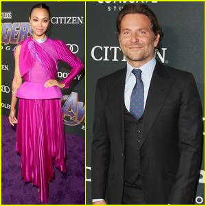 Bradley Cooper & Zoe Saldana Bring 'Guardians' to 'Avengers: Endgame' Premiere