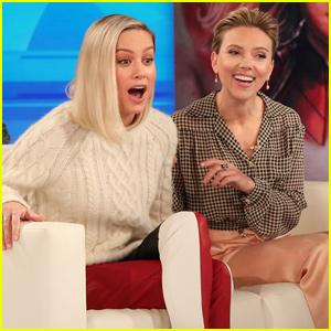 Scarlett Johansson & Brie Larson Don't Quite Remember Their First Kisses - Watch!