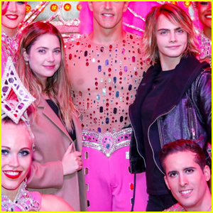 Cara Delevingne & Ashley Benson Hang Out with Moulin Rouge Dancers in Paris!