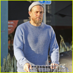 Charlie Hunnam Spends the Day Grocery Shopping in L.A.