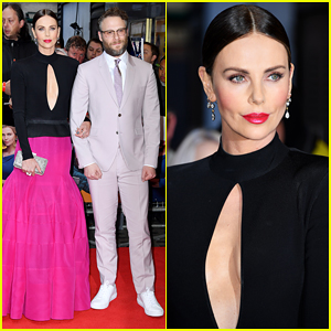 Charlize Theron & Seth Rogen Glam Up for 'Long Shot' London Premiere!