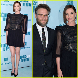 Charlize Theron & Seth Rogen Premiere 'Long Shot' in Paris