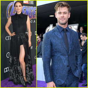 Chris Hemsworth & Natalie Portman Reunite at 'Avengers: Endgame' Premiere