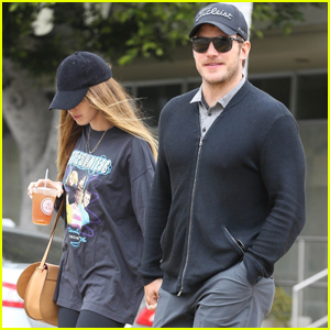 Chris Pratt & Fiancee Katherine Schwarzenegger Hold Hands During Afternoon Outing