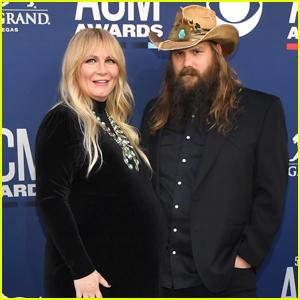 Chris Stapleton & Pregnant Wife Morgane Step Out for ACM Awards 2019