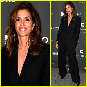 Cindy Crawford Suits Up for Cosentino LA City Center Grand Opening
