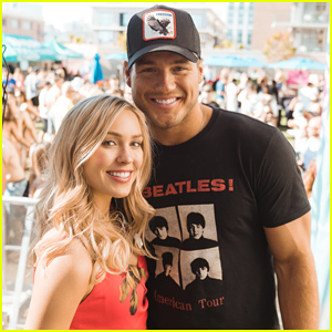 Colton Underwood & Cassie Randolph Couple Up at San Diego Pool Party!