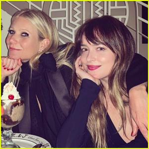Dakota Johnson & Gwyneth Paltrow Cozy Up at Derek Blasberg's Birthday Party!