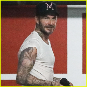 David Beckham Hits the Gym with a Friend in WeHo!