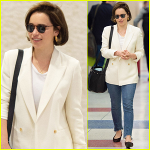 Emilia Clarke Jets Back to NYC After Easter Weekend
