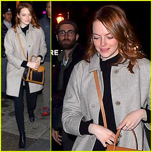 Emma Stone & Boyfriend Dave McCary Grab Dinner After 'SNL' Rehearsals