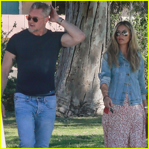 Eric Dane Shows Some Muscle While Out With Ex Rebecca Gayheart