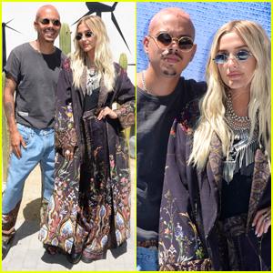 Evan Ross & Ashlee Simpson Couple Up at Desert Jam Held During Coachella 2019