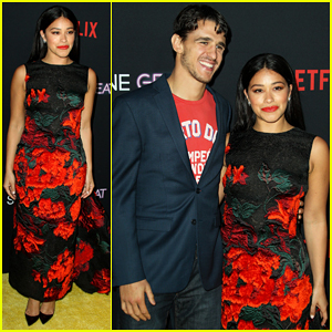 Gina Rodriguez is Supported by Fiance Joe LoCicero at 'Someone Great' Premiere!