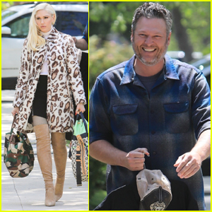 Gwen Stefani & Blake Shelton Start Their Easter Sunday with Church