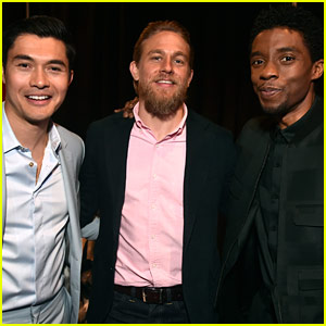 Henry Golding, Charlie Hunnam, & Chadwick Boseman Promote Their Movies at CinemaCon 2019!