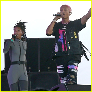 Jaden Smith & Sister Willow Fly During His Coachella Set!
