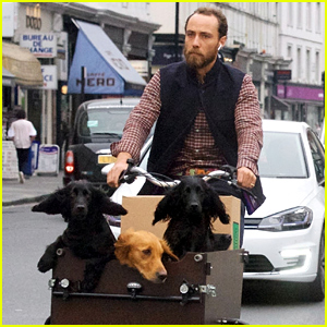 James Middleton - Kate & Pippa's Younger Brother - Takes His 3 Dogs on a Bike Ride