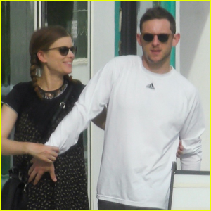 Jamie Bell Cuddles Wife Kate Mara's Baby Bump!
