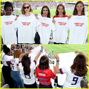 Jennifer Garner, Natalie Portman & More Support Time's Up With US Women's Soccer