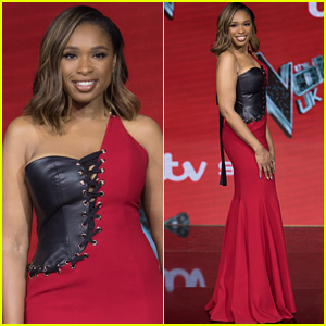 Jennifer Hudson Stuns in a Sexy Red Dress Ahead of 'The Voice UK' Finale!