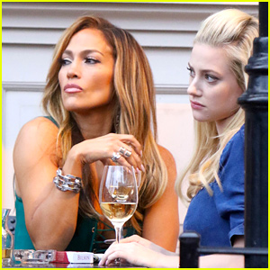 Jennifer Lopez & Lili Reinhart Wine & Dine on 'Hustlers' Set