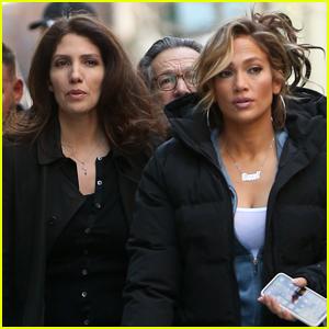 Jennifer Lopez is Visited by Sister Lynda on 'Hustlers' Set