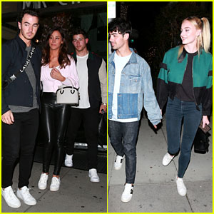 The Jonas Brothers Join Danielle Jonas & Sophie Turner for Dinner Together in Beverly Hills