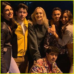 Jonas Brothers Joined By Priyanka Chopra, Sophie Turner & Danielle Jonas For Dinner in NYC