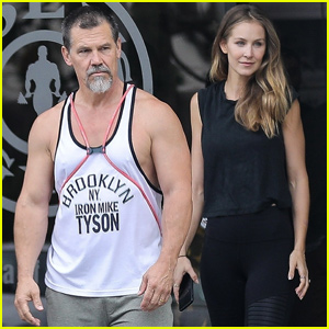Josh Brolin & Kathryn Boyd Hit the Gym in Los Angeles!