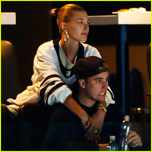 Hailey Bieber Consoles Justin Bieber as Toronto Maple Leafs Lose Playoff Game