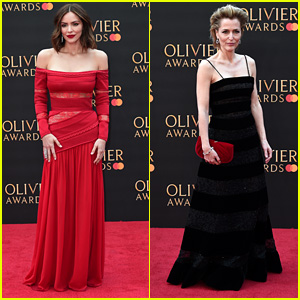Katharine McPhee & Gillian Anderson Look Chic at Olivier Awards 2019