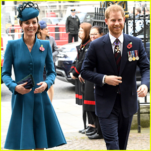 Kate Middleton & Prince Harry Share a Laugh Ahead of Anzac Day Service