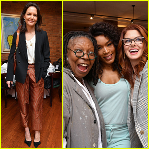 Katie Holmes Joins Whoopi Goldberg, Debra Messing, & More at Tribeca Film Festival 2019 Jury Lunch!