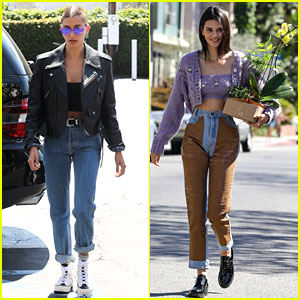 Hailey Bieber & Kendall Jenner Show Off Their Style After Morning Pilates Together