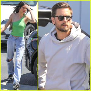 Kendall Jenner Joins Scott Disick at the Studio in L.A.