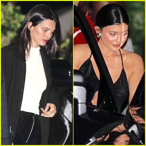 Kendall & Kylie Jenner Join Mom Kris For Malibu Dinner