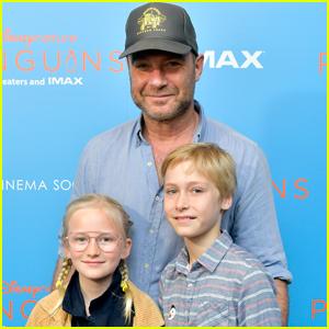 Liev Schreiber Brings the Kids to 'Penguins' Screening in NYC