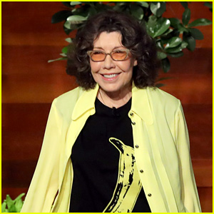 Lily Tomlin Has a Strange Rubber Addiction - Watch Now!