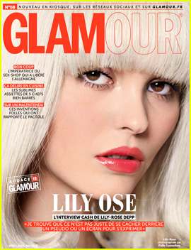 Lily-Rose Depp Goes Bleach Blonde For 'Glamour Paris'
