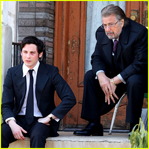 Logan Lerman's Face Is Bruised for Scene with Al Pacino