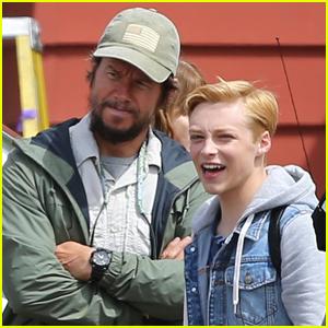 Mark Wahlberg is Joined by Reid Miller on 'Good Joe Bell' Set