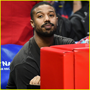 Michael B. Jordan Enjoys Night Out at LA Clippers Game!