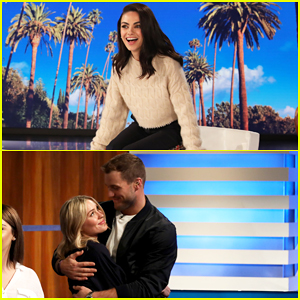 Mila Kunis Nerds Out Over Colton Underwood & Cassie Randolph as 'Ellen' Guest Host - Watch!